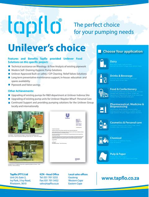 Tapflo Group in South Africa