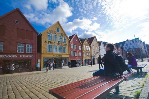 Hanseviertel Bryggen in Bergen