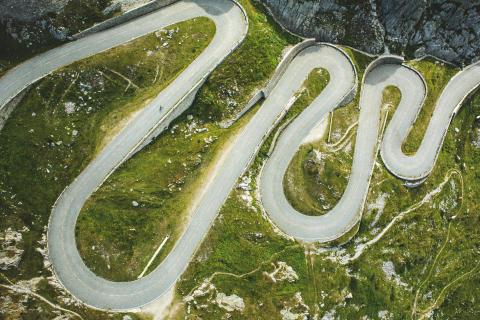 Roadcycling auf der legendären Tremola über den Gotthardpass