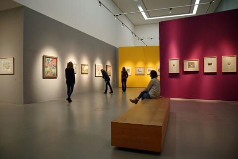 """Blick in die Ausstellung """"Nolde und die Brücke"""" im Museum der bildenden Künste Leipzig (1)."""