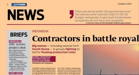 Contractors fight for Gendalo-Gehem