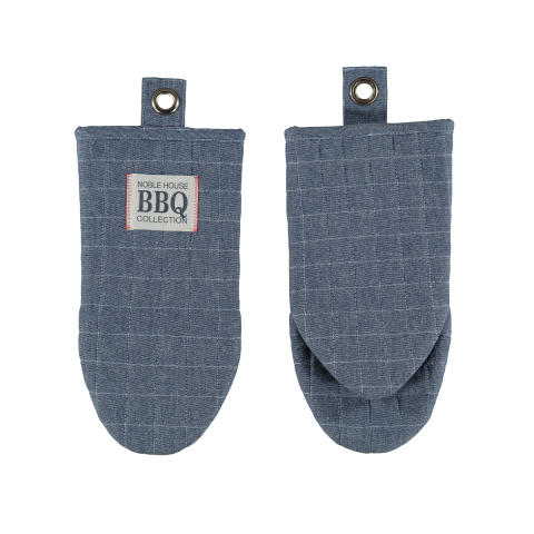 88496-86 Oven Glove Chambray BBQ Frog