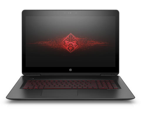 17.3 OMEN by HP with brand logo on screen_Front Facing