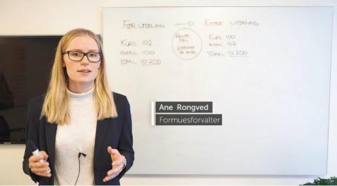 Justering av kurs og utdeling  av nye andeler i rentefondene