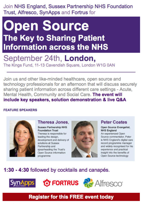 Open Source - The Key to Sharing Patient Information across the NHS