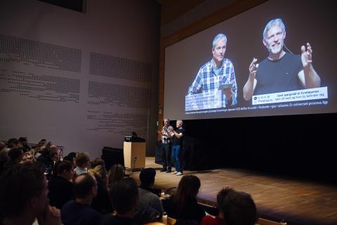 Livestream foredrag på Vibenshus Gymnasium