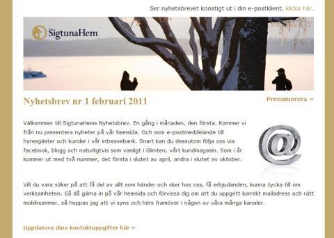 Nu kan du få senaste nytt från SigtunaHem på webben