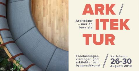 Pressinbjudan: Arkitekturveckan 2019