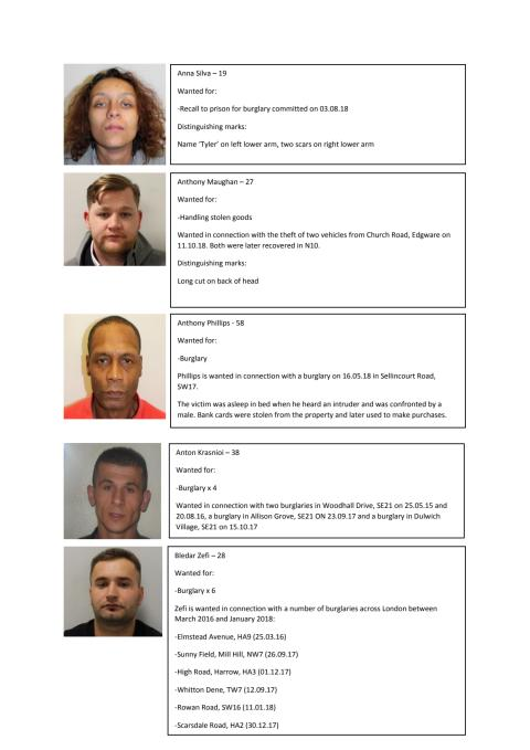 UPDATE: Wanted faces - 26 March