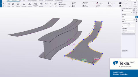 Tekla Structures 2020 Lofted plates