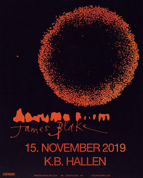 James Blake giver koncert i K.B. Hallen fredag 15. november 2019
