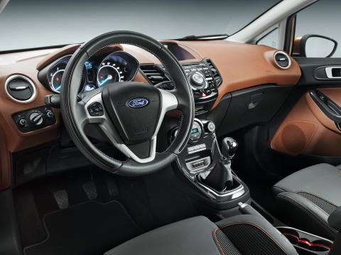 Nye Ford Fiesta; interiørbilde