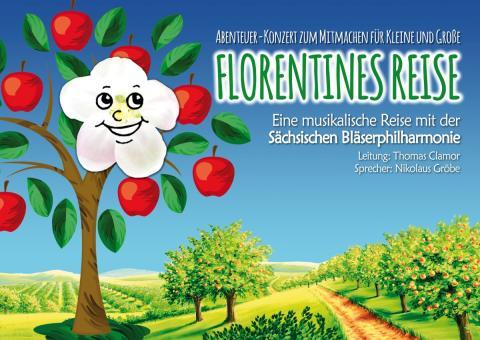"""Sächsische Bläserphilharmonie präsentiert Familienkonzert """"Florentines Reise"""""""