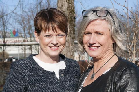 Från vänster: Frida Fogelmark, rektor och Cecilia Tengelin-Danielsson, specialpedagogisk ledare
