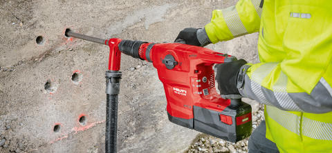 Nyheten Hilti TE 60-A36 SDS MAX batteriborrhammare - med samma kraftfulla prestanda som motsvarande eldrivna verktyg