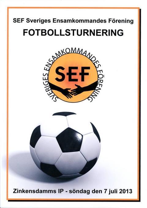 SEF inbjuder till fotbollsturnering