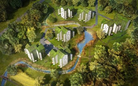 Arcona och Utopias växthusliknande projekt vinner markanvisningstävling i Kallhäll