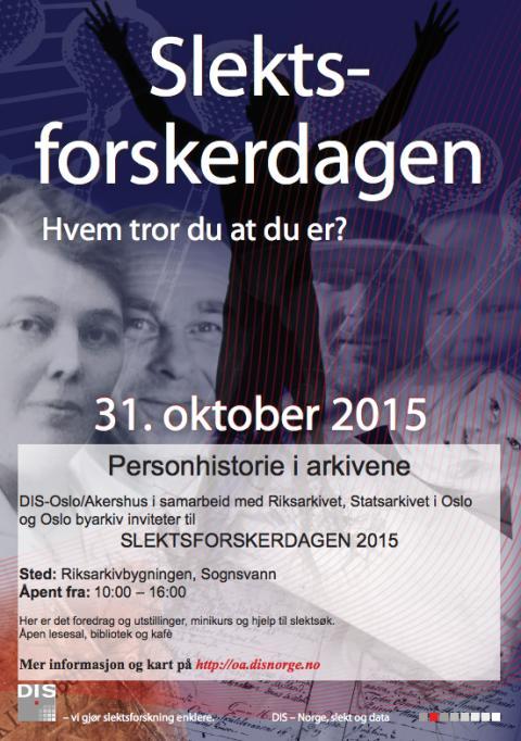 Slektsforskerdagen 2015 – personhistorie i arkivene