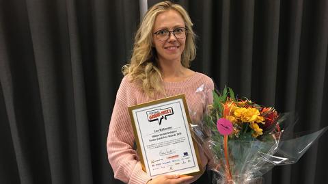 Hon är bäst på att kommunicera forskning - vann Forskar Grand Prix