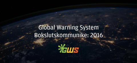 GWS Production AB (publ) publicerar bokslutskommuniké för 2016