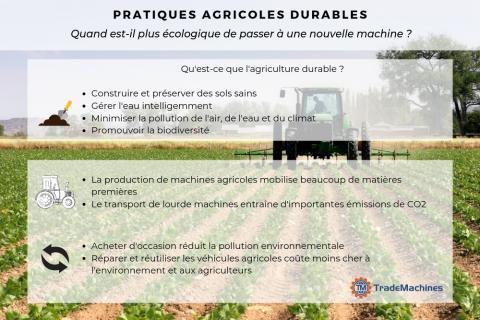 Résumé visuel : Pratiques agricoles durables et machinisme agricole
