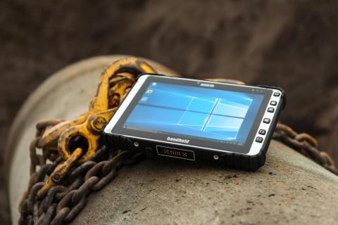 ALGIZ 8X är en stryktålig tablet som tål tuffa arbetsmiljöer