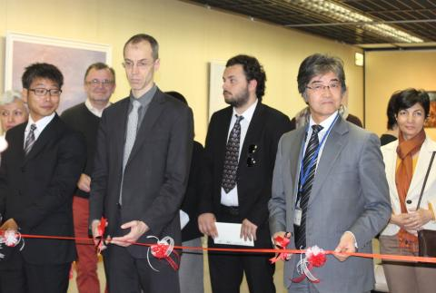 The opening of Art Quake Kyoto by Kyoto Officials and dignitaries.