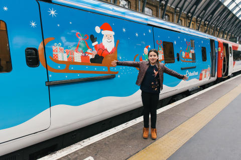 Madeleine Deakin with her Class 91 Virgin Train
