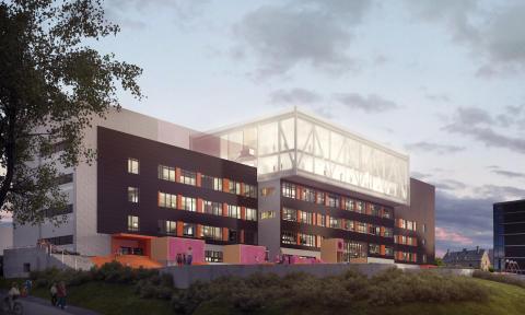 Skisse av Brynseng skole