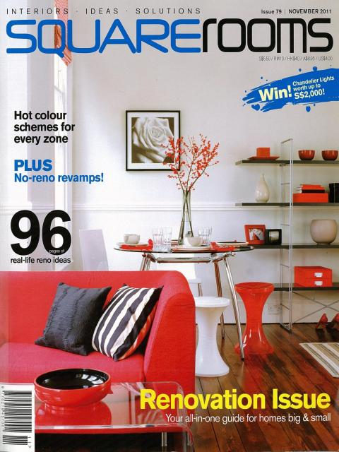 Evorich Article on SquareRooms Design Magazine Nov 2011