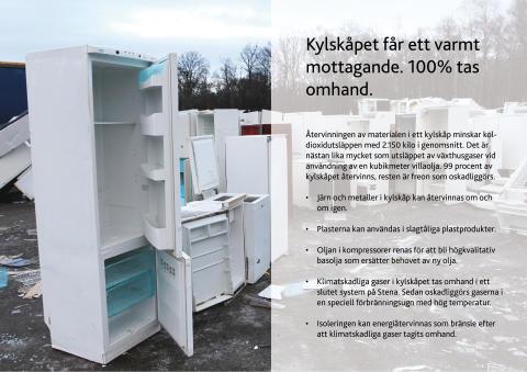 Stenas återvinning i Sverige gav 4 miljoner ton i koldioxidbesparing