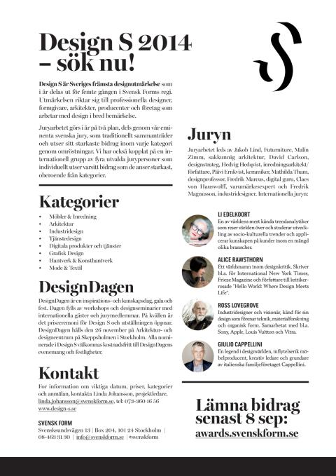 Design S 2014 – flyer