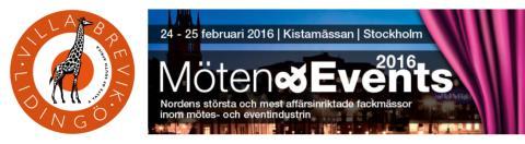 Villa Brevik ställer ut under Möte & Events-mässan i Kista den 24-25 februari