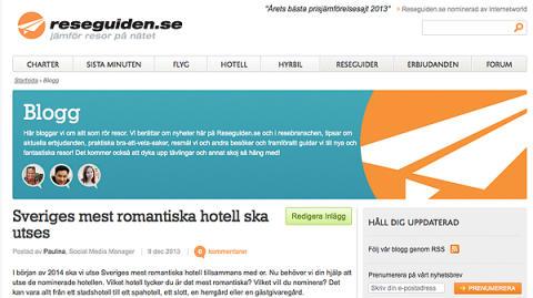 Premiär för reseblogg på Reseguiden.se