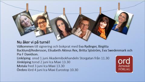 Författarturné i Linköping, Jönköping, Motala och Örebro