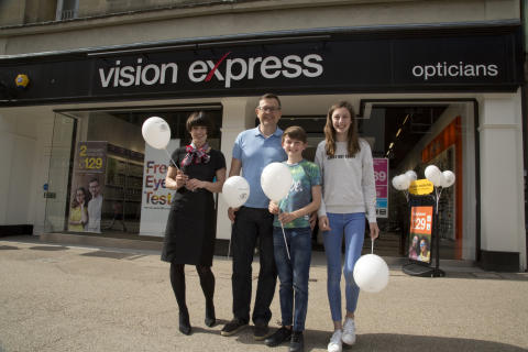​Young eye cancer survivor unveils new premises for Oxford optician