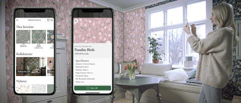 AR-teknik gör det möjligt att tapetsera virtuellt i ny app