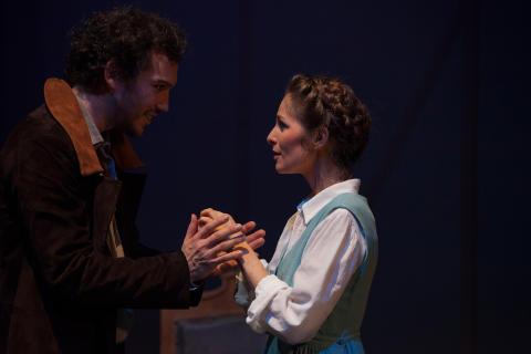 Faust 1 Bernhard Glose als Faust und Anne-Kathrin Korf als Gretchen