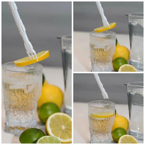 Avputtargaffel - citronskiva