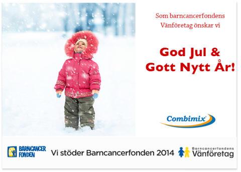Årets julhälsning tillsammans med Barncancerfonden