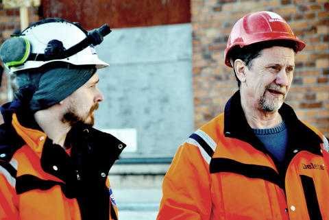 Mikael Myntti och Gerth Larsson, Delete, på Gasverket 51 Norra Djurgårdsstaden
