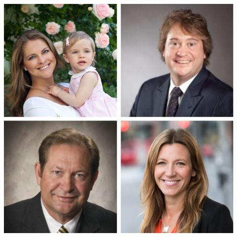 Prinsessan Madeleine, Geoff Gage, Inge Thulin och Anna Ryott är nya ledamöter i styrelsen för World Childhood Foundation.