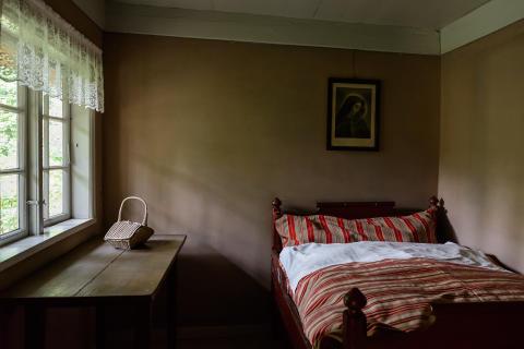 Et soveværelse på Frilandsmuseet - Nationalmuseet