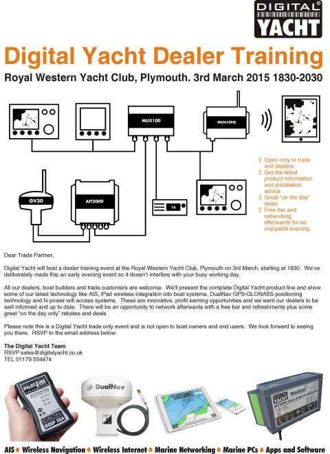 Digital Yacht Dealer Training 3rd March in Plymouth