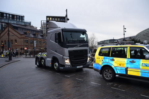 Unmarked HGV cab