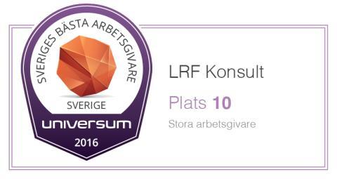 LRF Konsult - en av Sveriges tio bästa arbetsgivare