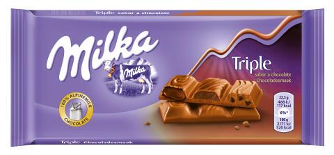 Milka Triple, una nueva combinación de texturas chocolate y caramelo