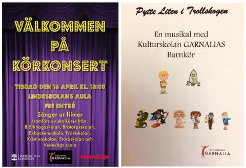 Kulturskolan Garnalia: Konserter med skol- och barnkörer