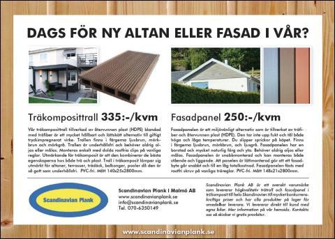 Ny annons för träkomposittrall från Scandinavian Plank ute nu!