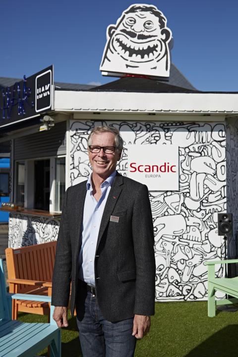 Hotelldirektör för Scandic Europa, Håkan Wegstedt, vid Pop Up HAK